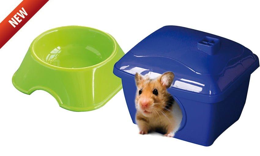 Casita y comedero para hamsters