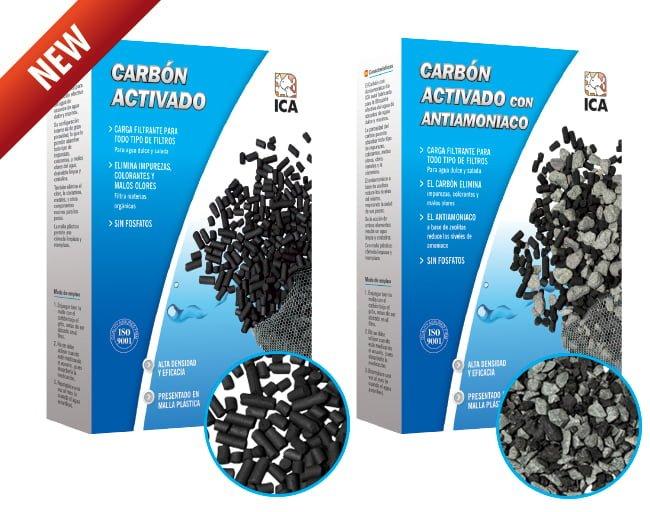 Carbón activado y con antiamoniaco