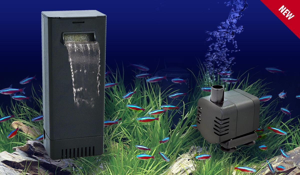 Filtro interno de flujo superior y mini bomba de agua