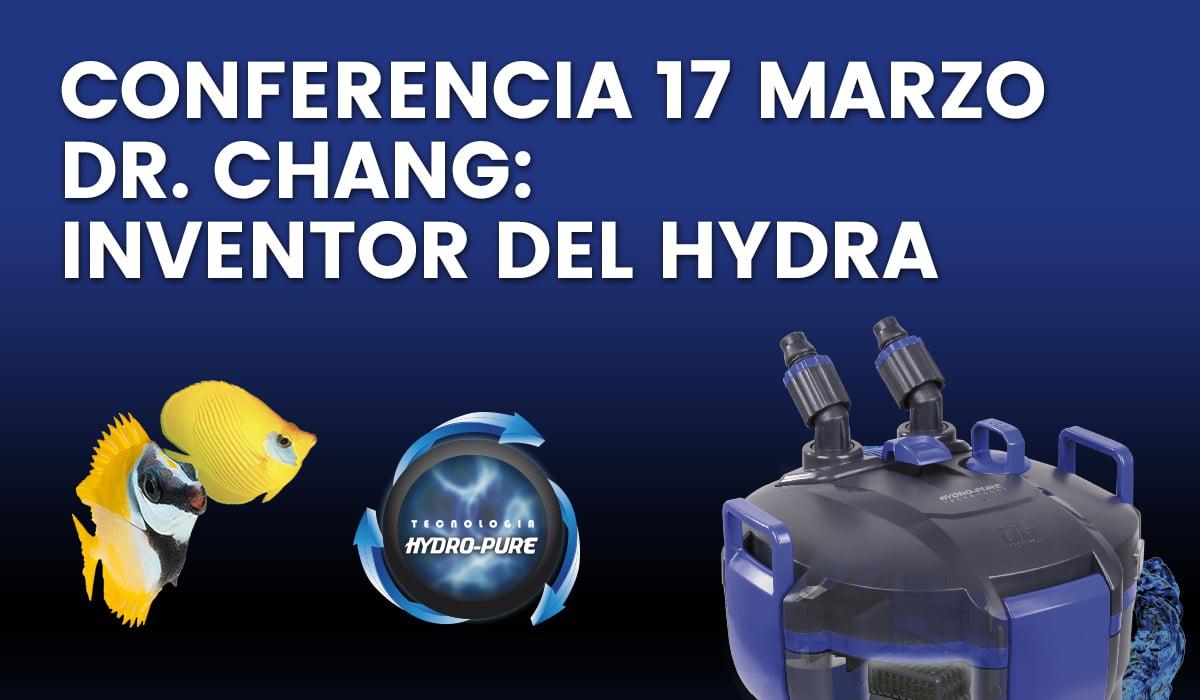 Conferencia del Dr. Chang, inventor del filtro Hydra