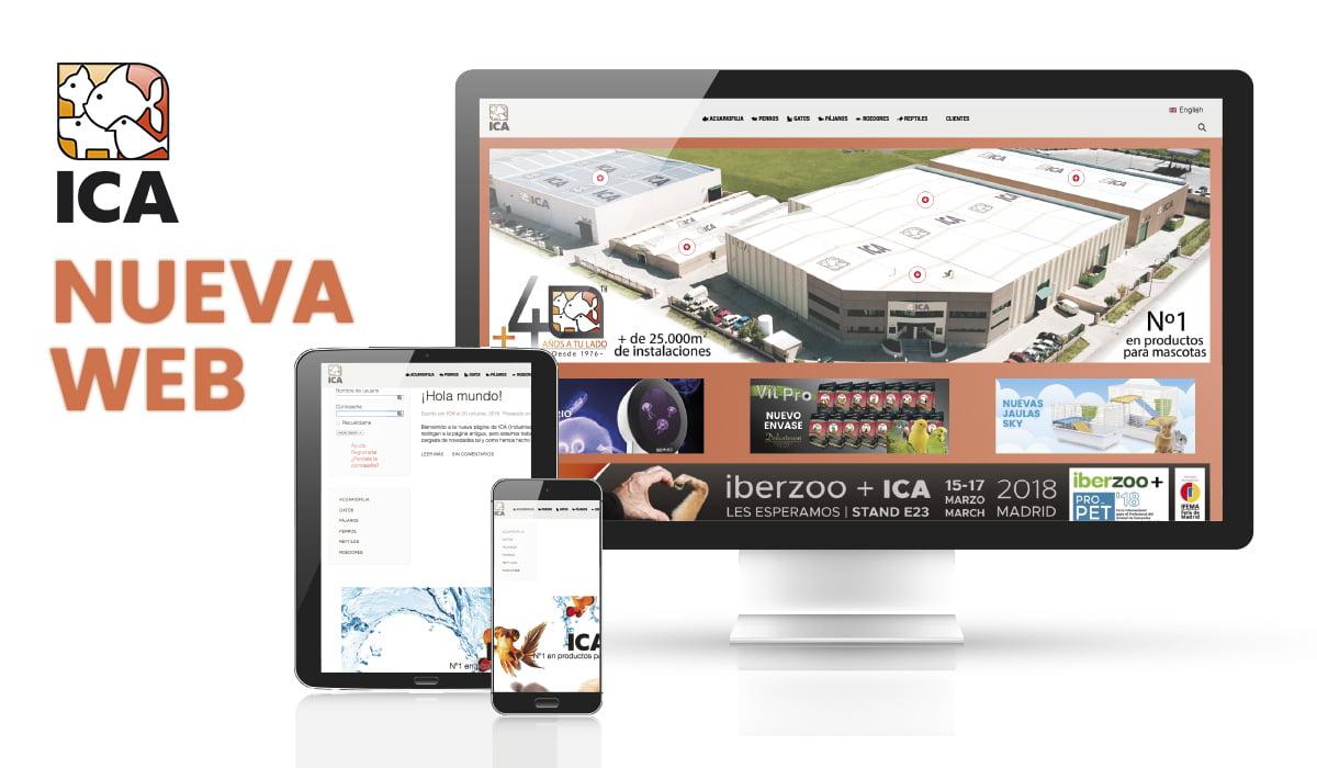 Nueva web de ICA
