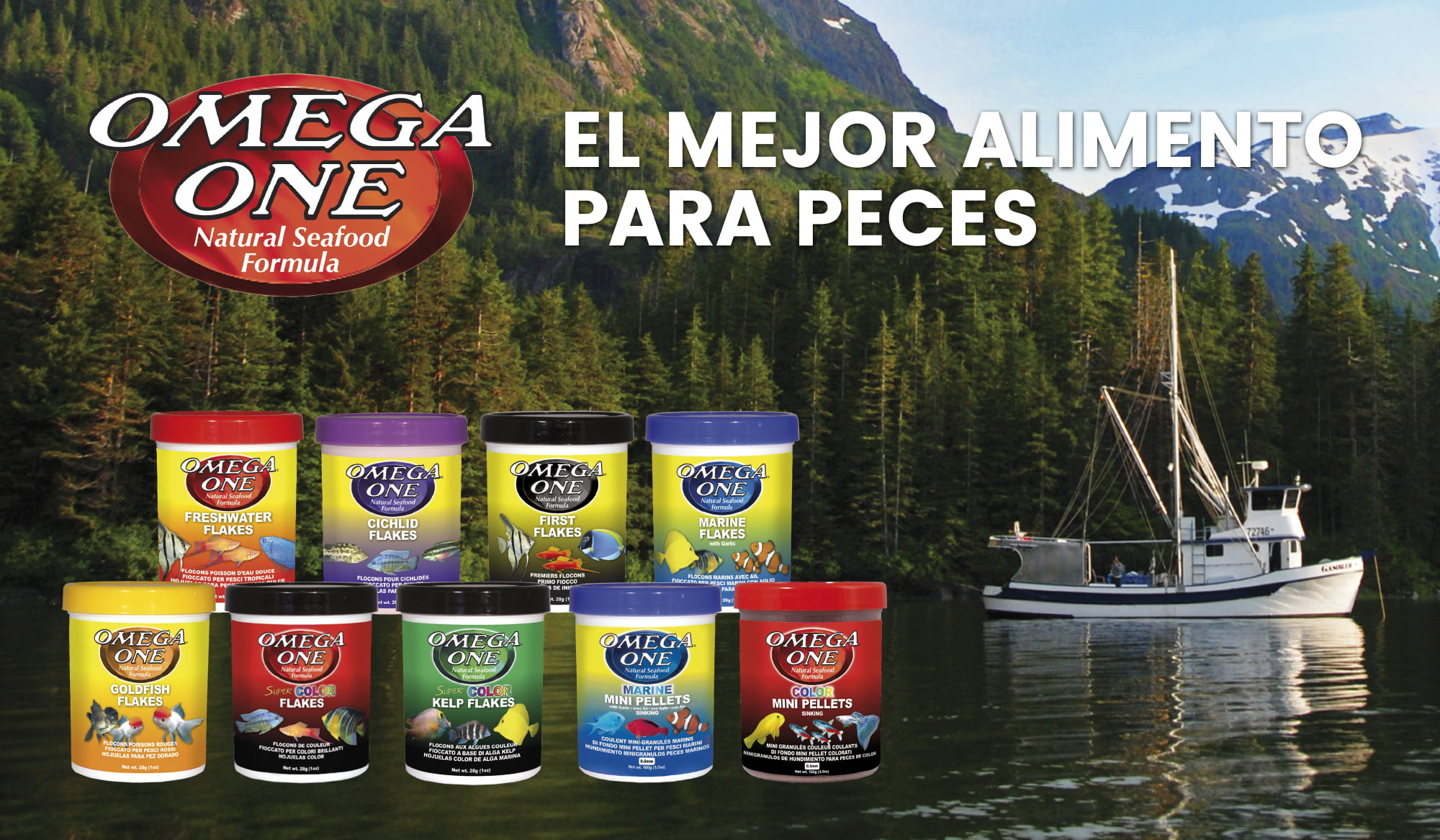 Omega One: Alimento natural premium para peces