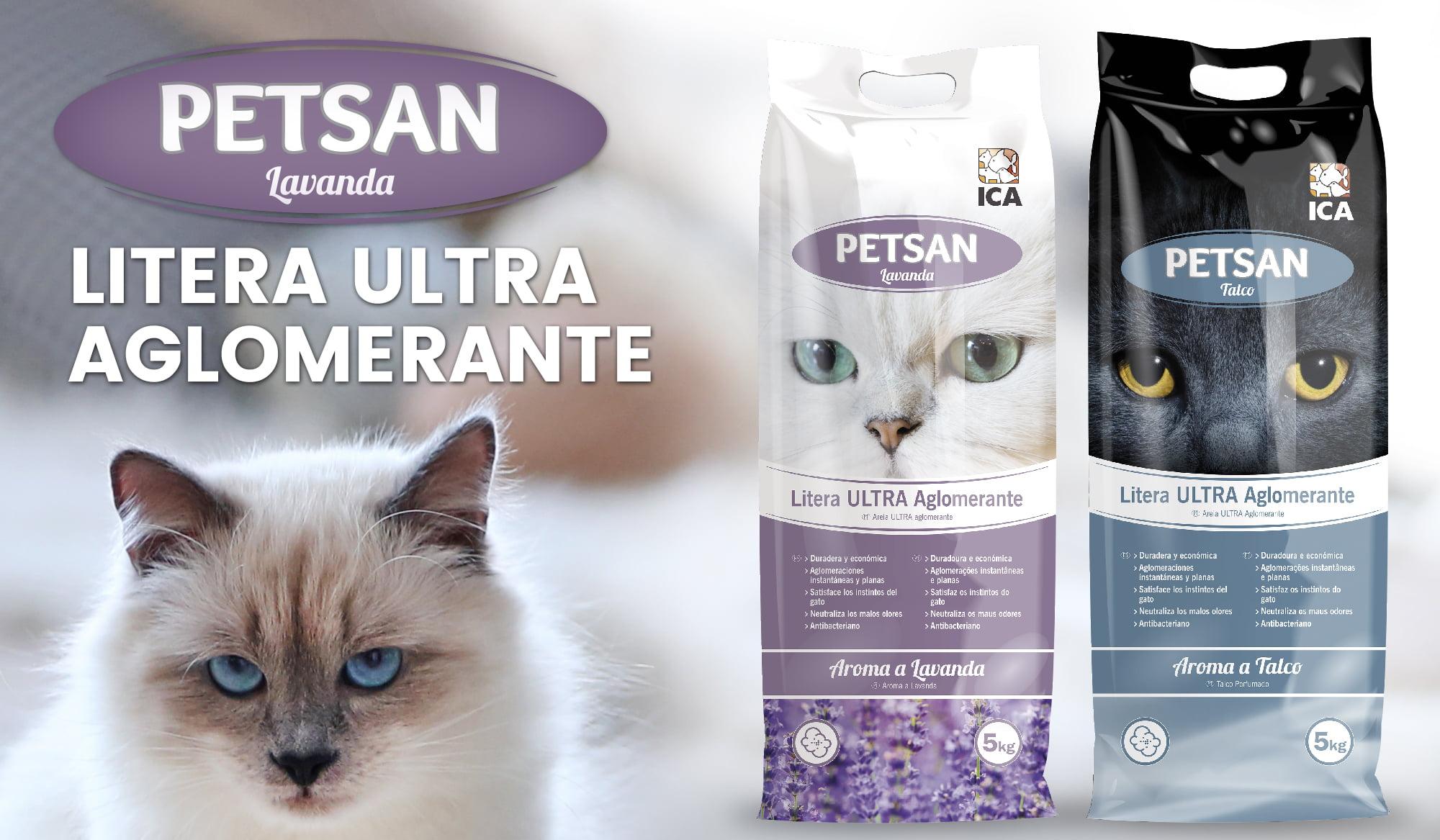 PETSAN: literas ULTRA aglomerantes para gatos