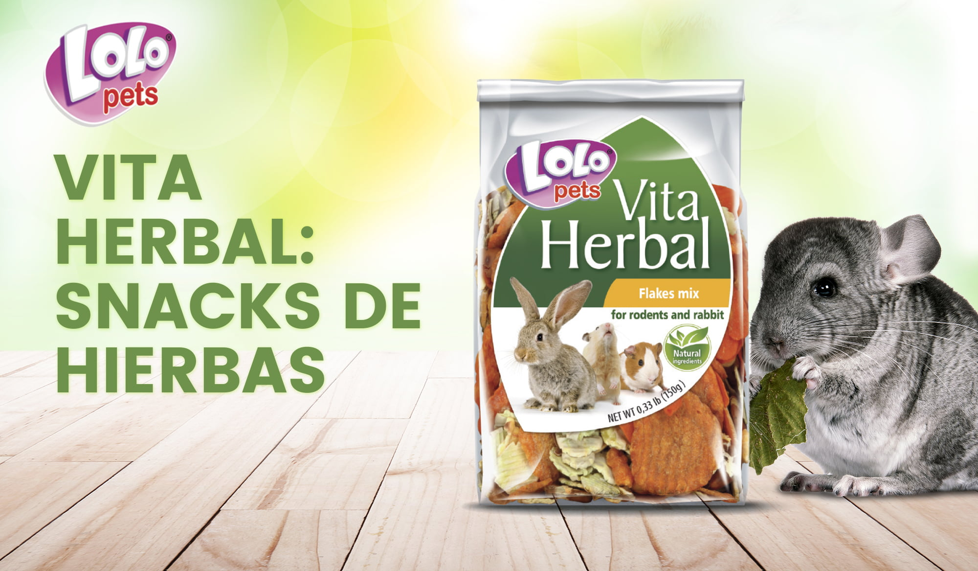 Vita Herbal: snacks de hierbas para roedores