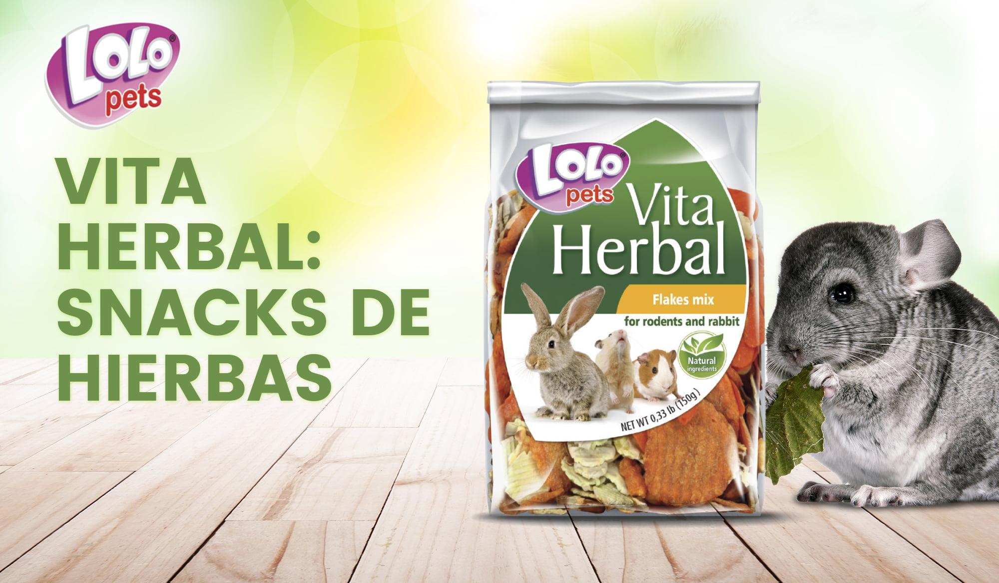 Vita Herbal: snacks de hierbas para roedores