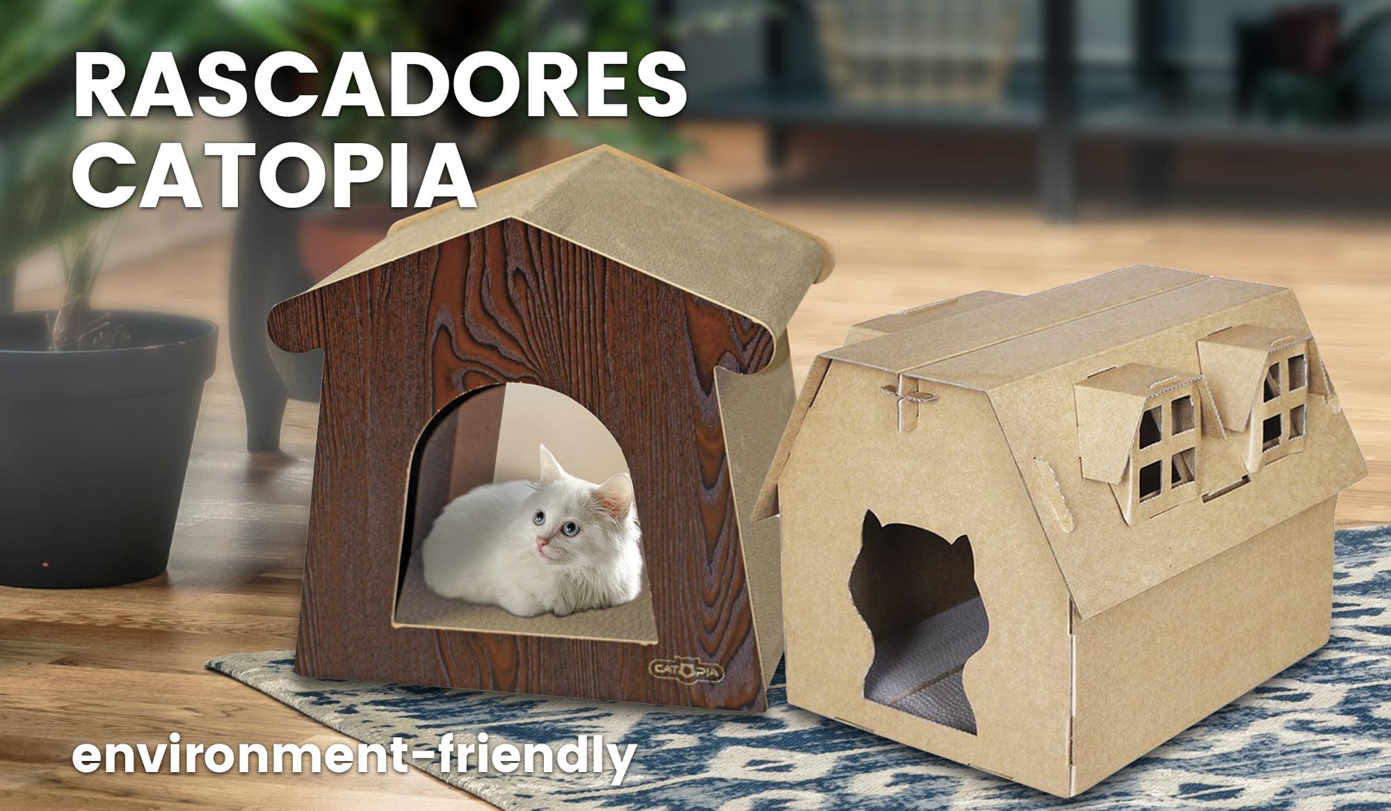Rascadores de cartón Catopia, respetuosos con el medio ambiente