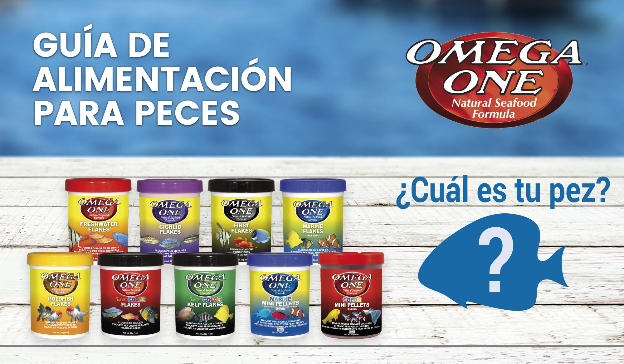 Guía de alimentación para peces Omega One